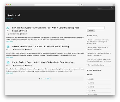 Laurels template WordPress - firebrandfantasyart.com