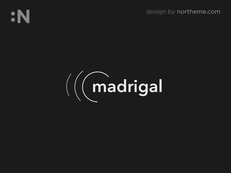 Madrigal personal blog WordPress theme