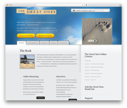 MyProduct WordPress template for business - thegreatonesonline.com/blog