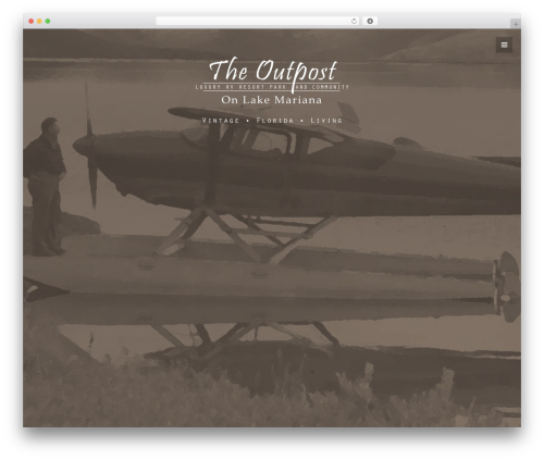 Nervaq WordPress website template - theoutpostresort.com