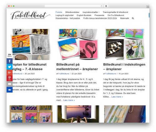 neve premium WordPress theme - frubilledkunst.dk