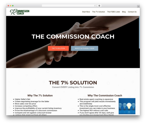 OnePirate free WP theme - thecommissioncoach.com