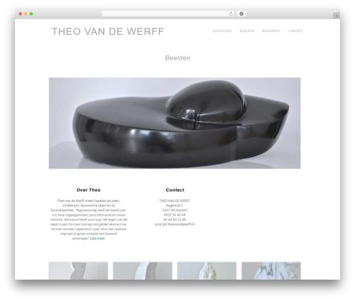 Portafolio top WordPress theme - theovandewerff.nl
