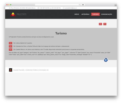 PressCore template WordPress - turismo.projectarte.pt