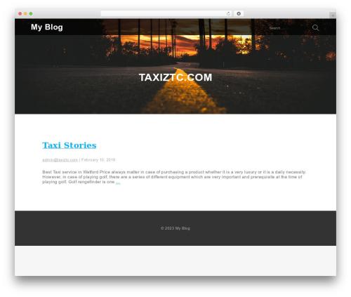 Services WordPress blog template - taxiztc.com