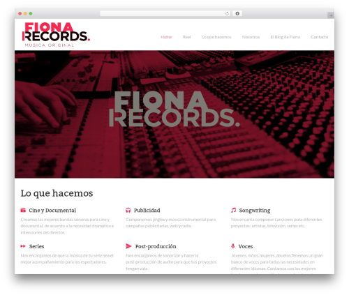 Theme WordPress Nestor - fionarecords.com