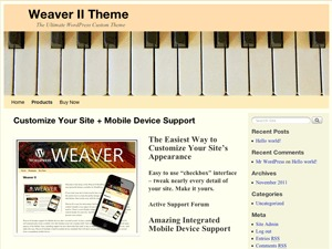 Theme WordPress Weaver Child