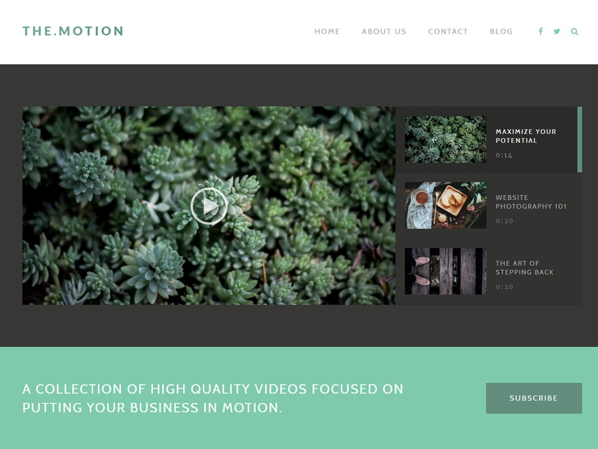 TheMotion WordPress video theme