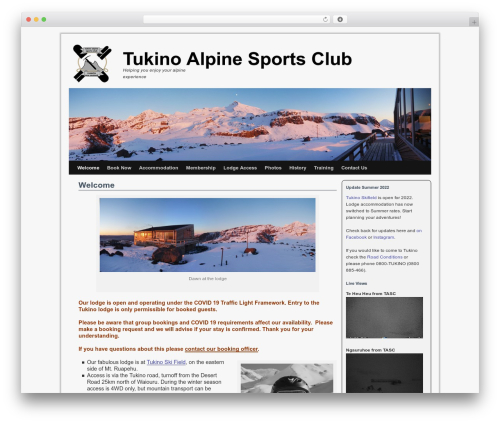 Twenty Ten Weaver premium WordPress theme - tukinoalpinesportsclub.org.nz