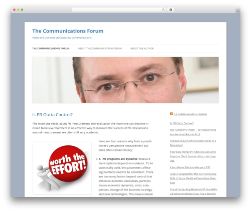 Twenty Twelve template WordPress free - thecommunicationsforum.info