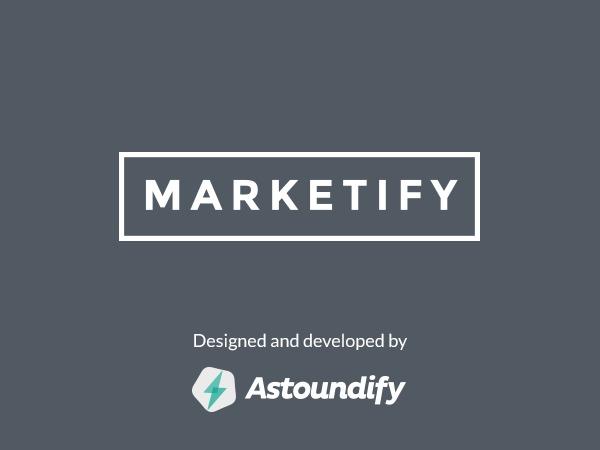 WordPress website template Marketify - Child Theme