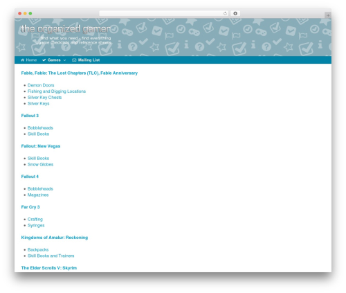 Xenon WordPress gaming theme - theorganizedgamer.com