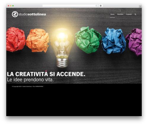 Best WordPress template Enfold - studiosottolinea.net