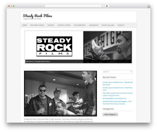 Fresh And Clean WordPress page template - steadyrockfilms.com