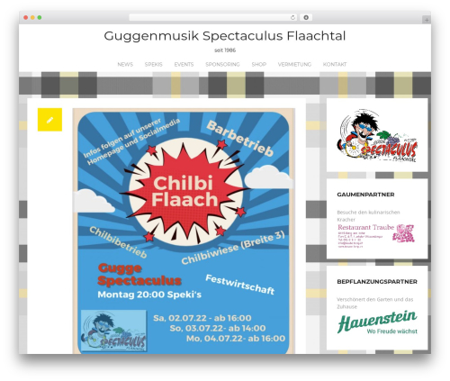 Rocked free WP theme - spectaculus.ch