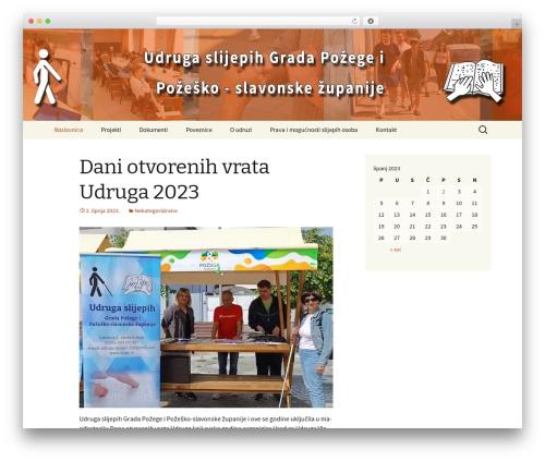 Twenty Thirteen free website theme - slijepi.hr