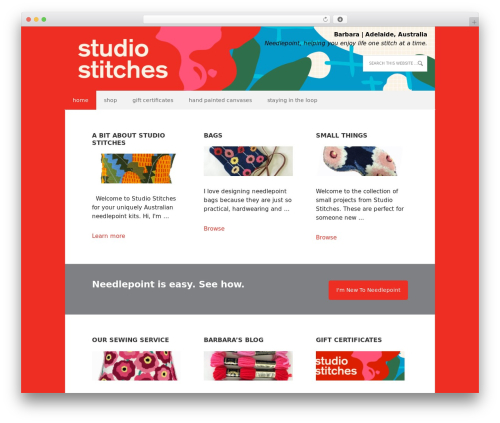 WordPress template Executive Child Theme - studiostitches.com.au
