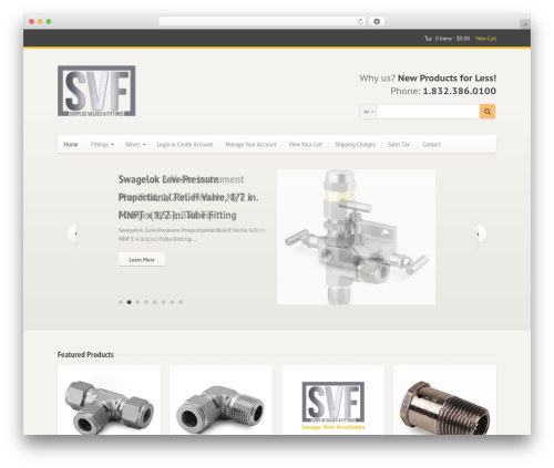 WordPress theme Agora - surplusvalvesfittings.com