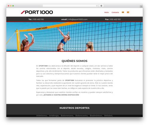Divi best WordPress theme - sport1000.com