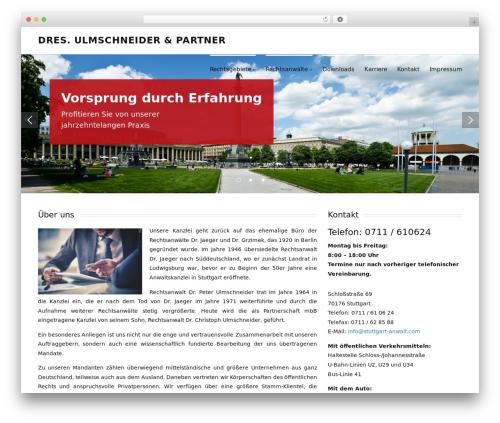 Posh WordPress theme design - stuttgart-anwalt.com