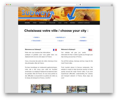 Subway best WordPress template - subway.fr