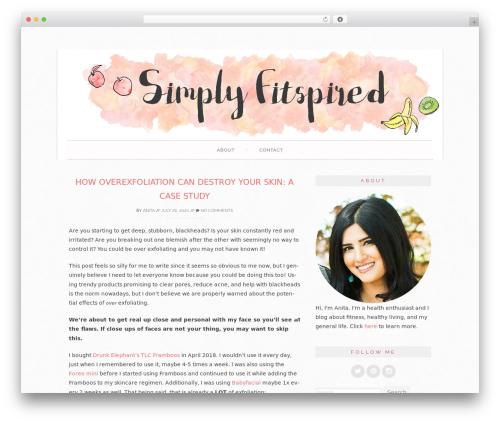 Sugar and Spice theme WordPress - simplyfitspired.com