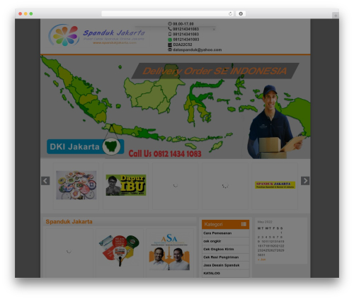 WP-Agen WordPress website template - spandukjakarta.com