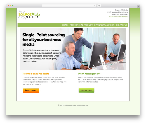 BLANK Theme business WordPress theme - sourceallmedia.com