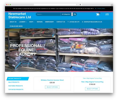 Giga Store theme WordPress free - stablecare.co.uk