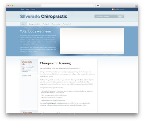 OpenAir best WordPress template - silveradochiropractic.com