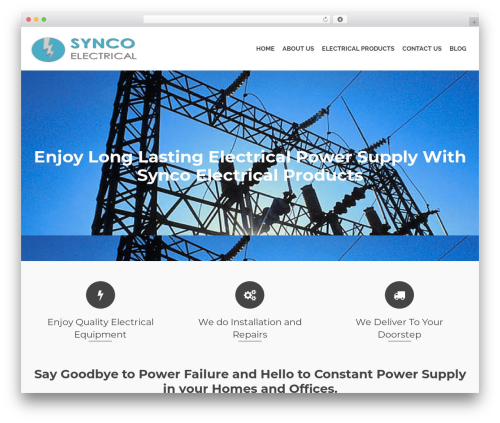 Pinnacle free WP theme - syncoelectrical.com