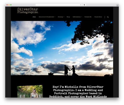Salient WordPress gallery theme - silverstarphotographic.co.uk