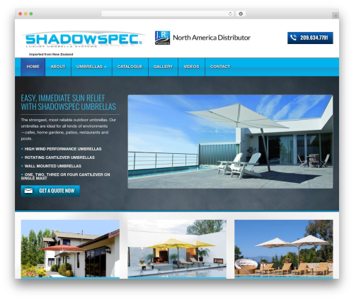 WordPress template Triggerfish Responsive - shadow-umbrella.com