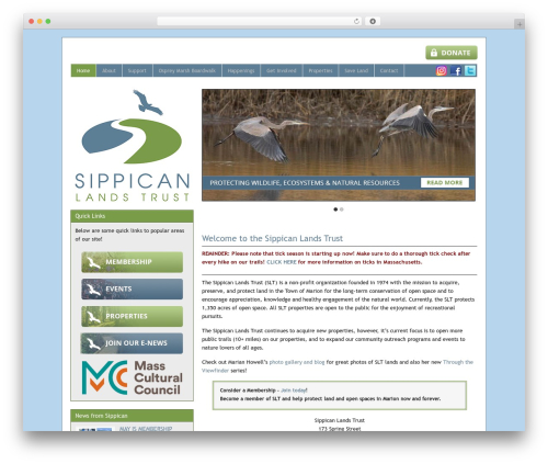 Catalyst theme WordPress - sippicanlandstrust.org
