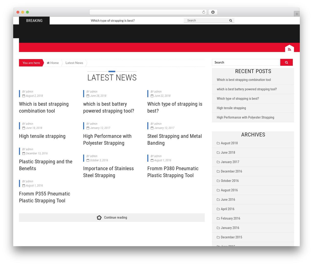 Epira Lite theme WordPress - strappinghelp.com