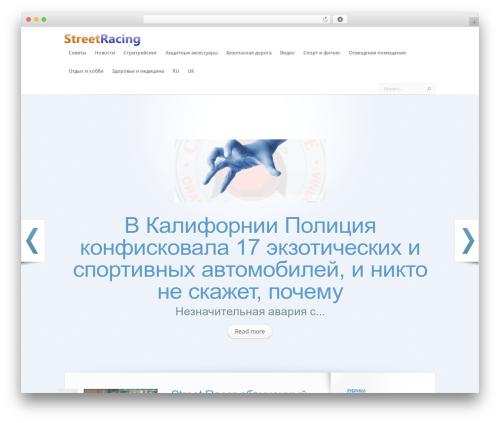 LeanBiz WordPress theme - streetracing.in.ua