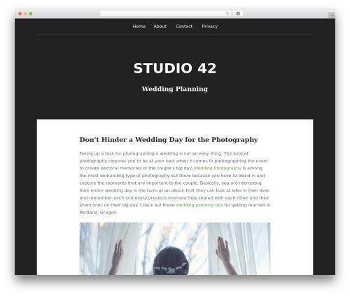 Padhang WordPress theme - stu42.com