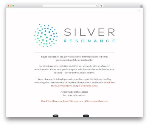 Theme WordPress Scrawl - silverresonance.com