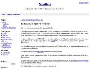 WordPress template Sucre