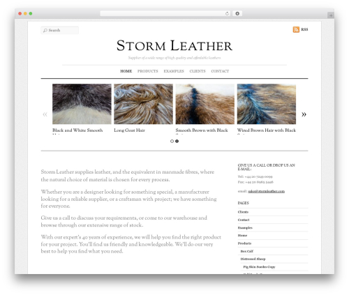 WP theme Elemin - stormleather.com