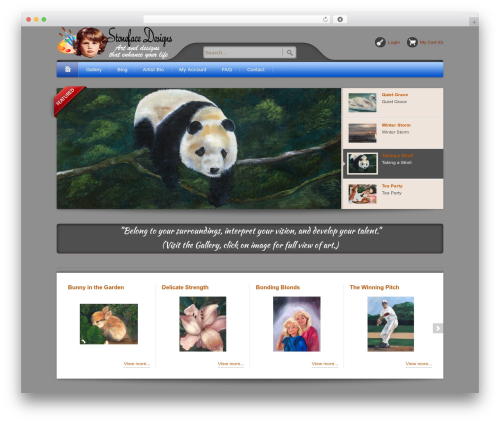 Bellissima WordPress website template - stonefacedesigns.com