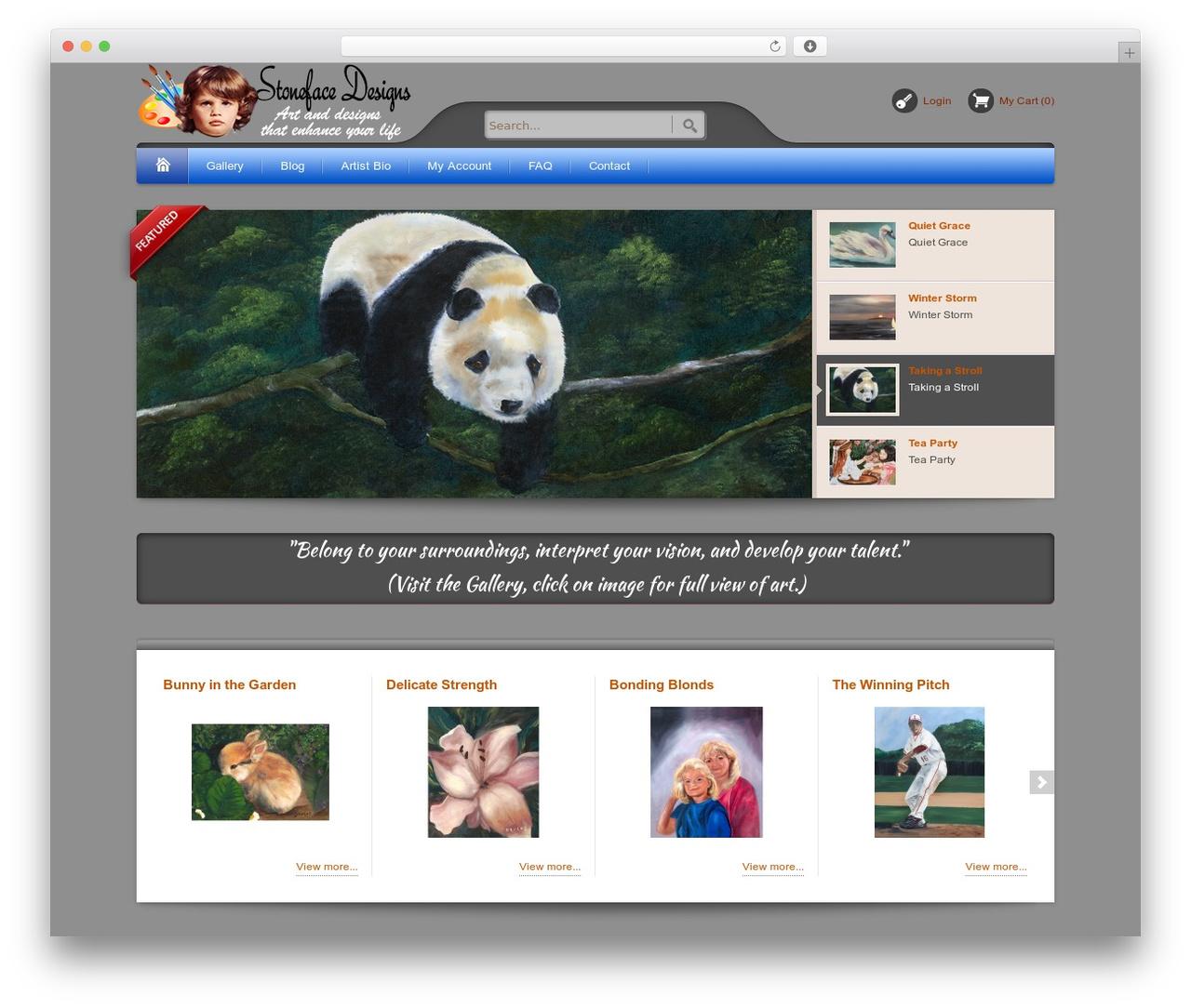 Bellissima WordPress website template - stonefacedesigns.com