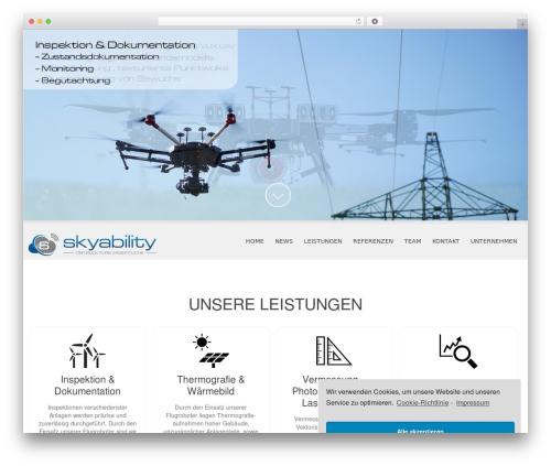 Best WordPress template SKT White - skyability.com