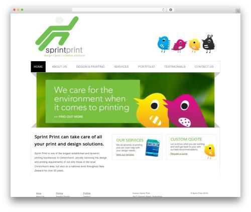 Best WordPress theme Blox Theme - sprintprint.co.nz