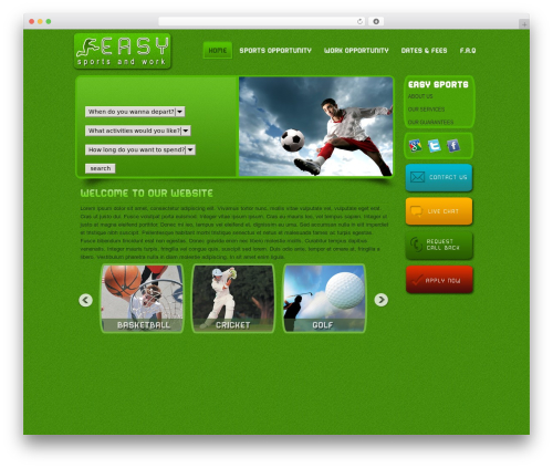 BLANK Theme WordPress theme - sportsexperience.co.nz
