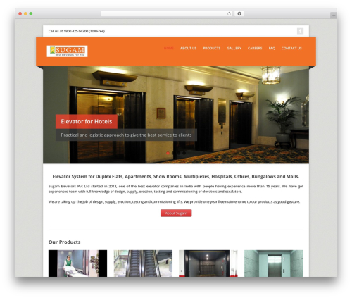 Corpo WordPress template - sugamelevators.com