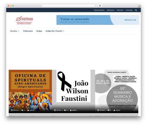 IsleMag free WordPress theme - soemus.org.br