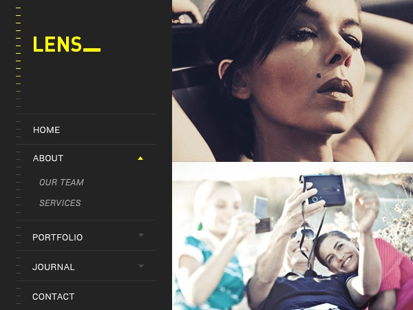 Lens WordPress photo theme