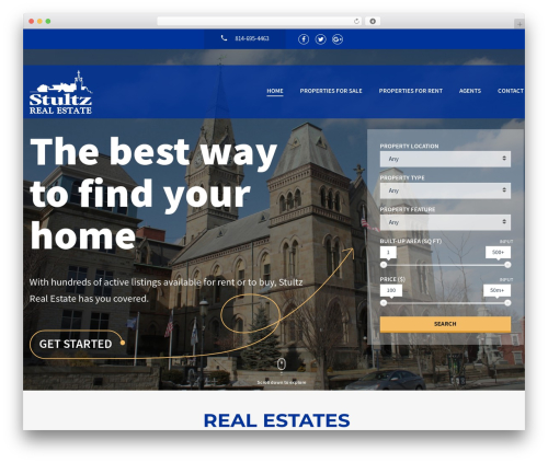 Realtyspace real estate WordPress theme - stultzrealestateagency.com