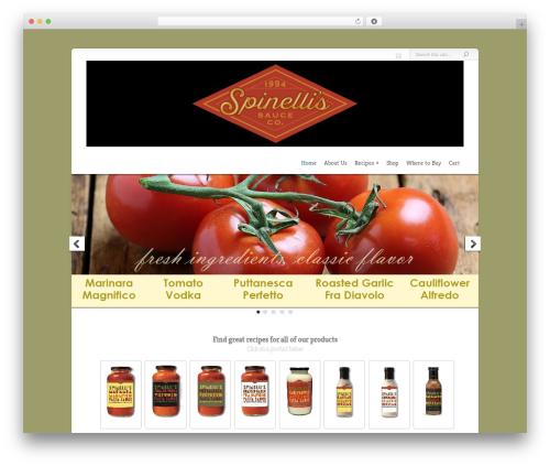 WordPress theme Chameleon - spinellissauceco.com